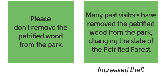 Persuasion national park example signs