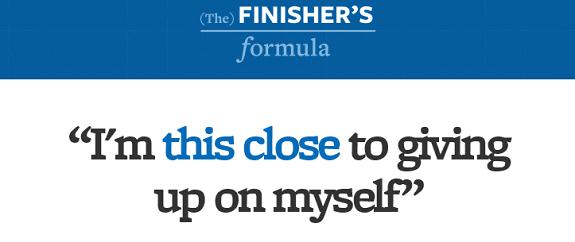 Finisher's Formula persuasion