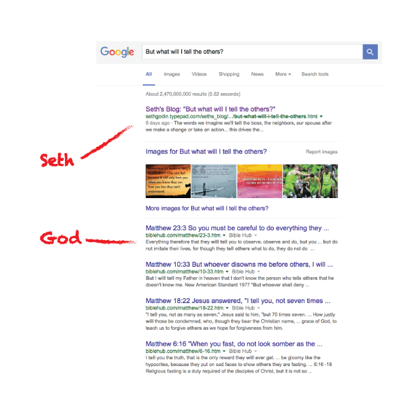 short content in search results