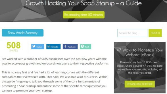 Growth Hacking SaaS guide