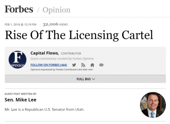 Rise of Licensing Cartel