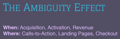 Cognitive bias: the ambiguity effect