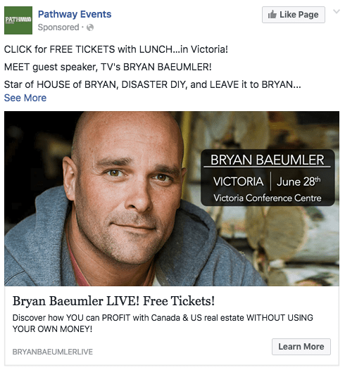 Bryan B FB ad benefits