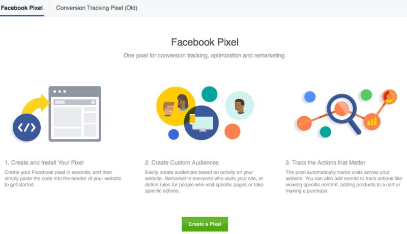 Facebook pixel screenshot