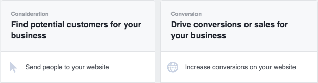 How will you track conversions in FB?
