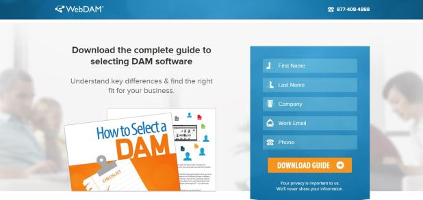 landing page with form 1