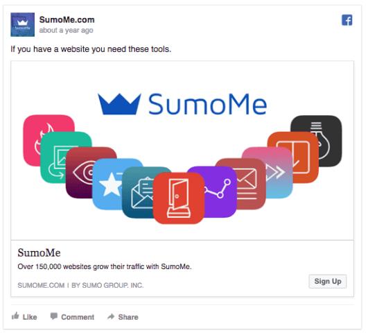 SumoMe ad