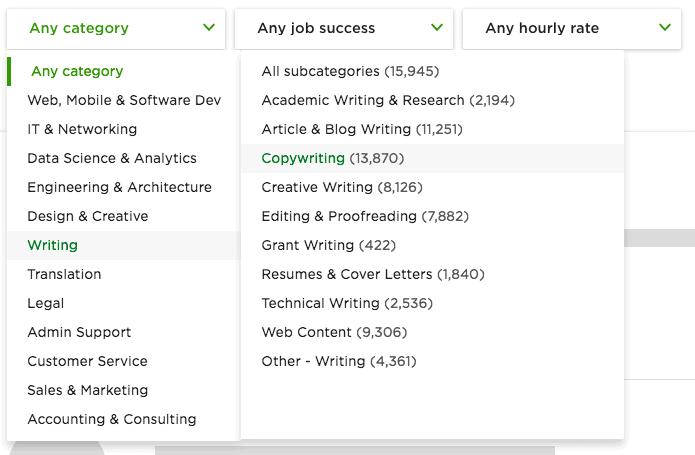 Freelance copywriter Upwork