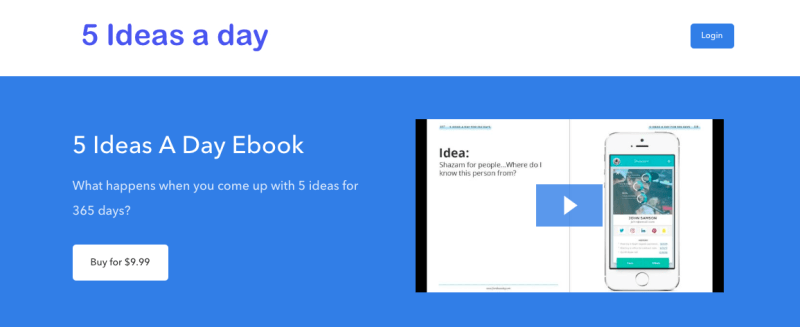 David Delahunty's 5 Ideas a Day Ebook