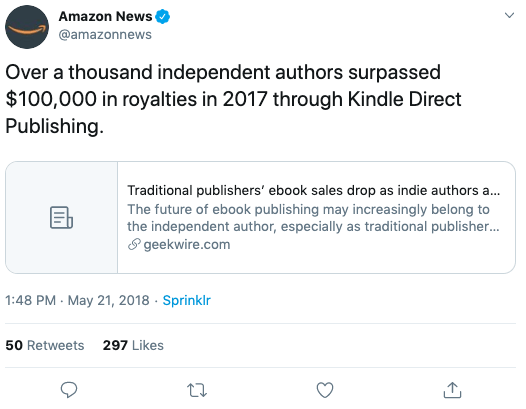 Amazon News tweet