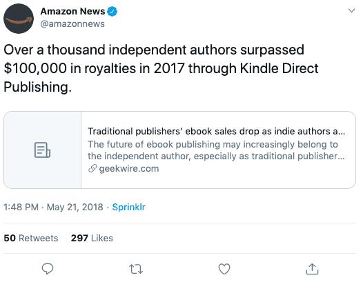 Amazon News tweet