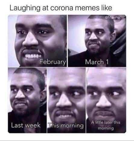 kanye west corona meme - changing expression