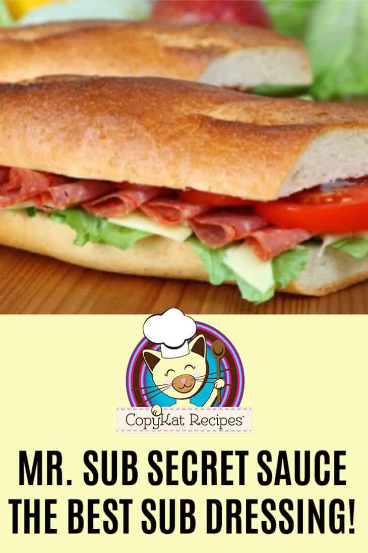 , Mr. Sub Secret Sauce Recipe