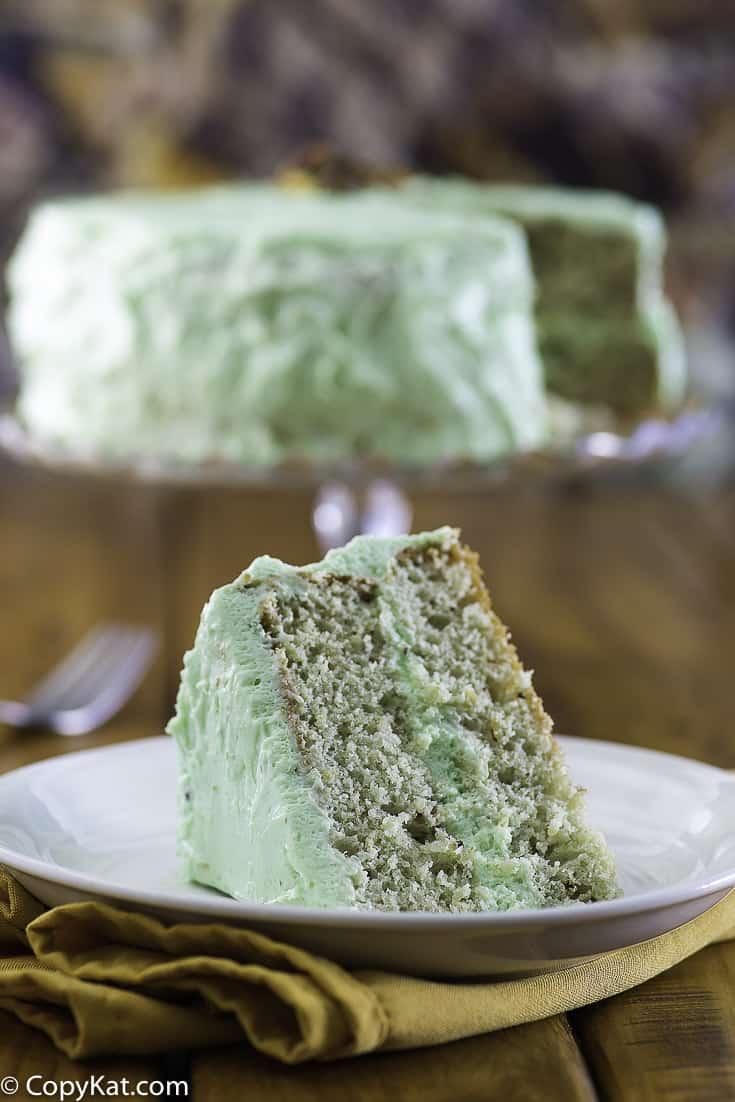 una rebanada de pastel de watergate