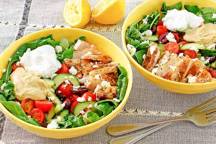 , Panera Mediterranean Grain Bowl with Chicken