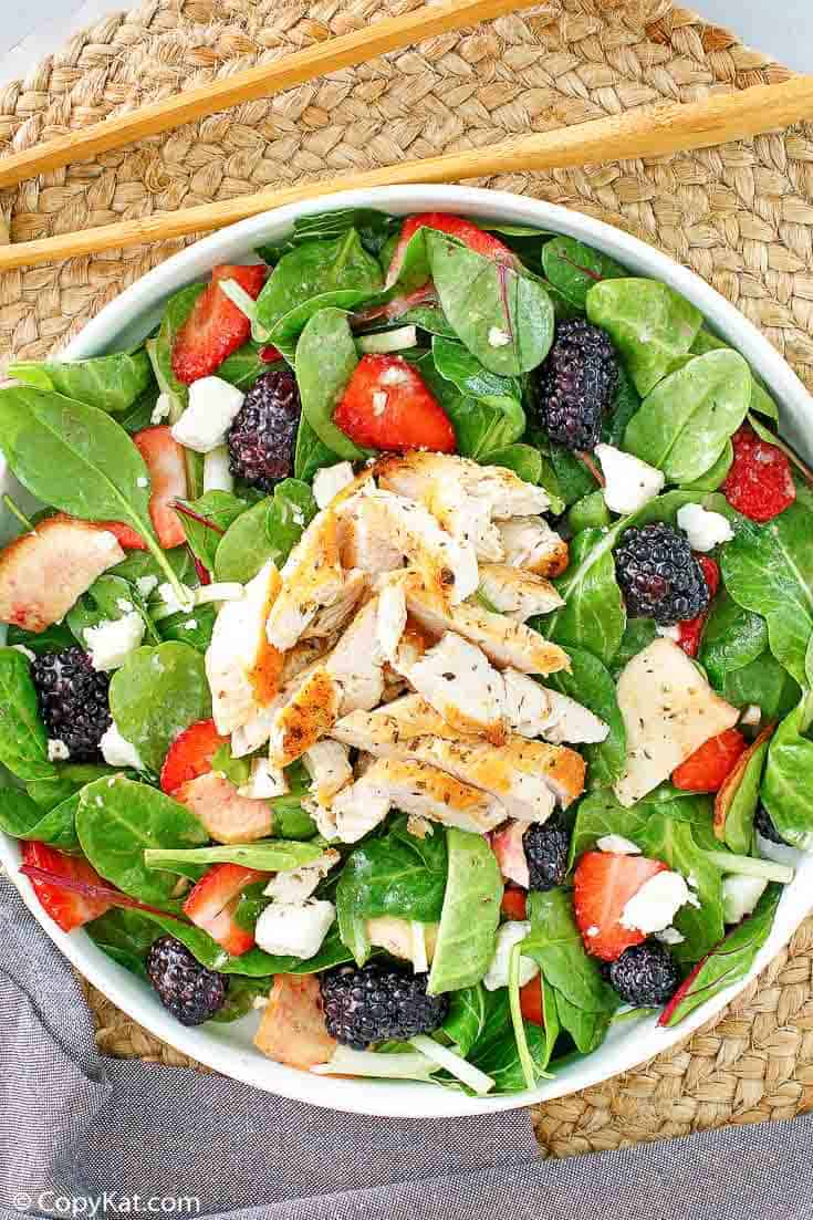 , Make your own Wendy's Summer Berry Chicken Salad