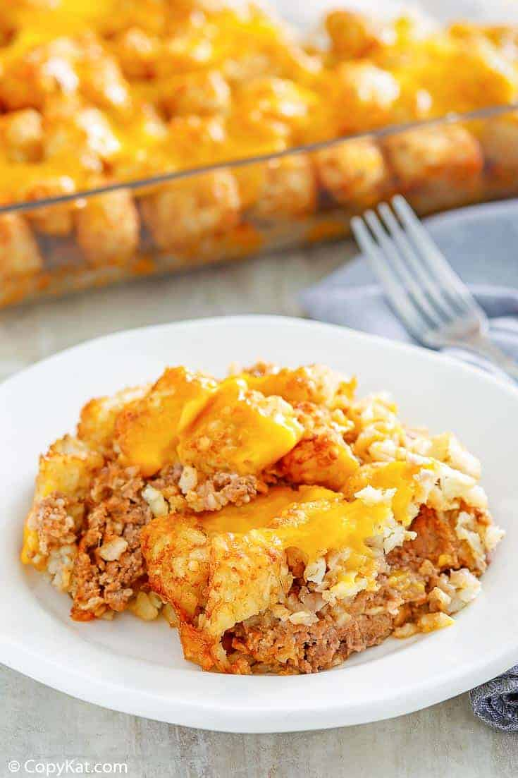 , Hamburger Tater Tot Casserole | CopyKat Recipes