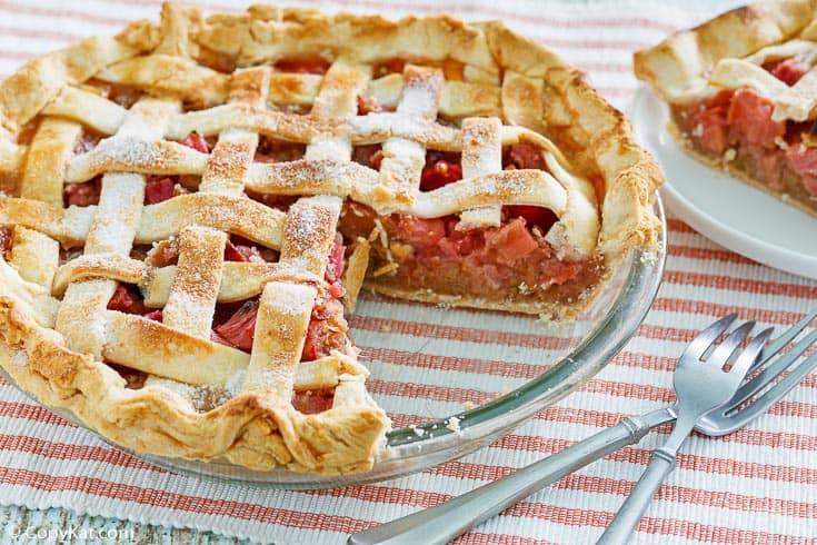 , Rhubarb Custard Pie | CopyKat Recipes
