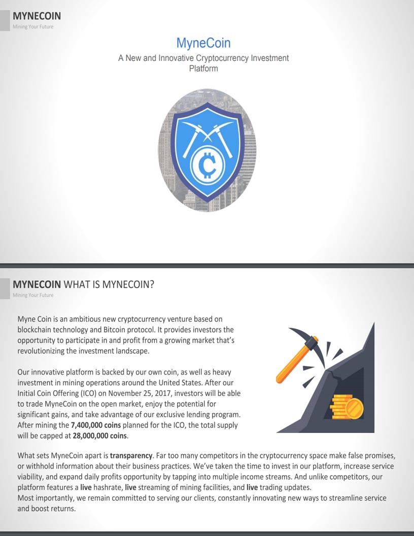 MyneCoin White Paper Thumbnail