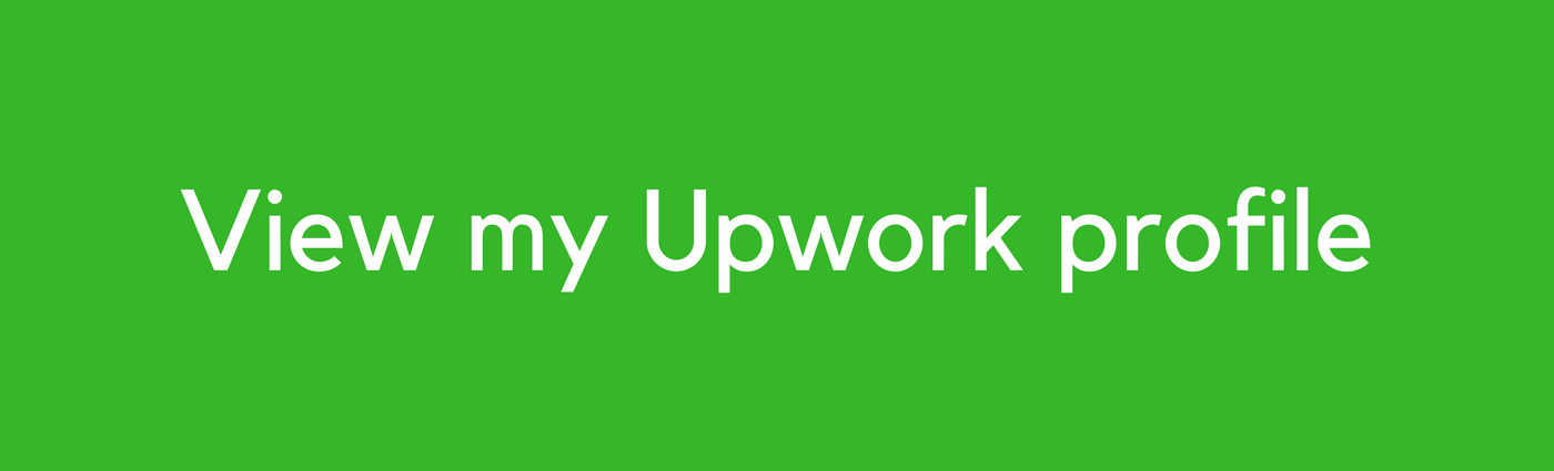 Upwork profile of San Diego freelance copywriter