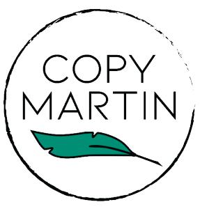 Logo for Copy Martin the website of San Diego copywriter Martin Ceisel