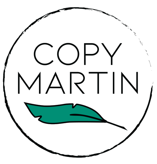 Logo for Copy Martin the website of San Diego copywriter Martin Ceisel