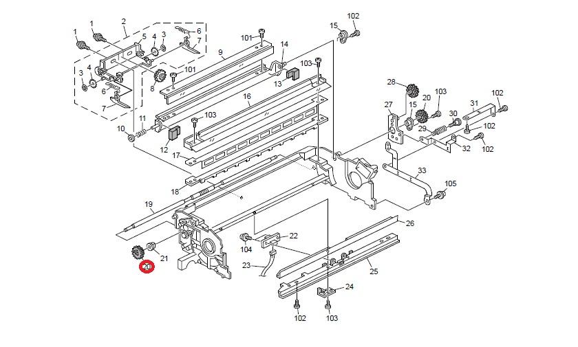 Toner recycling gear genuine Ricoh AB011462
