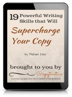 19 Powerful Writing Skills that Will Supercharge Your Copy - free eBook by Copytactics