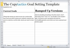 The Copytactics Goal Setting Template - Image