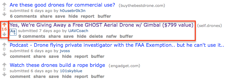 Reddit - r:drones Post