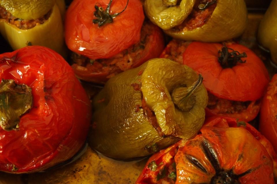 Pimiento relleno shiitake