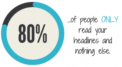 80% of people read only your headlines