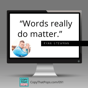 """091 Ryan Stewman Social Media share on Sales Psychology and the quote """"words really do matter"""""""