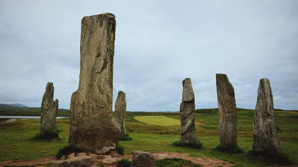 Calanis Standing Stones, 6 of the stones are visible