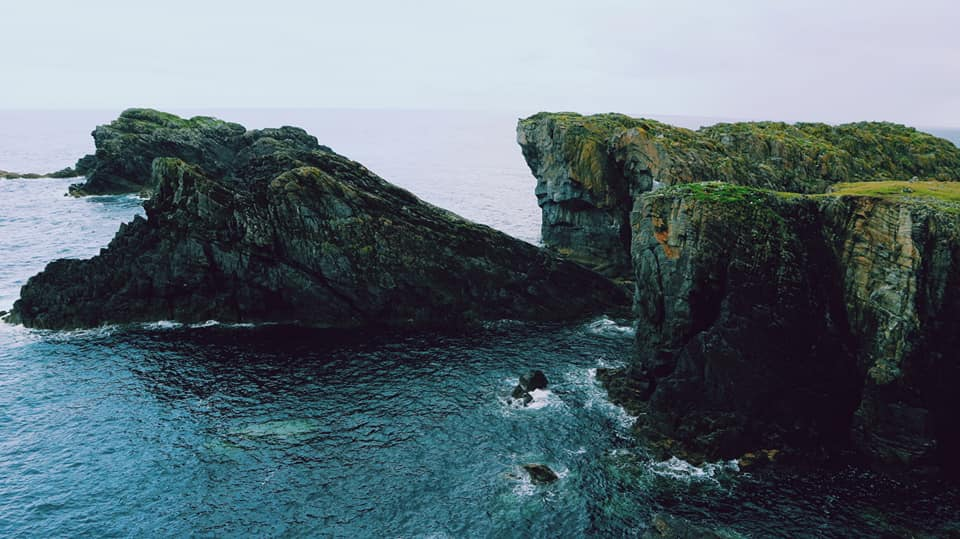 At the edge of the Western Isles, water is lapping around the land