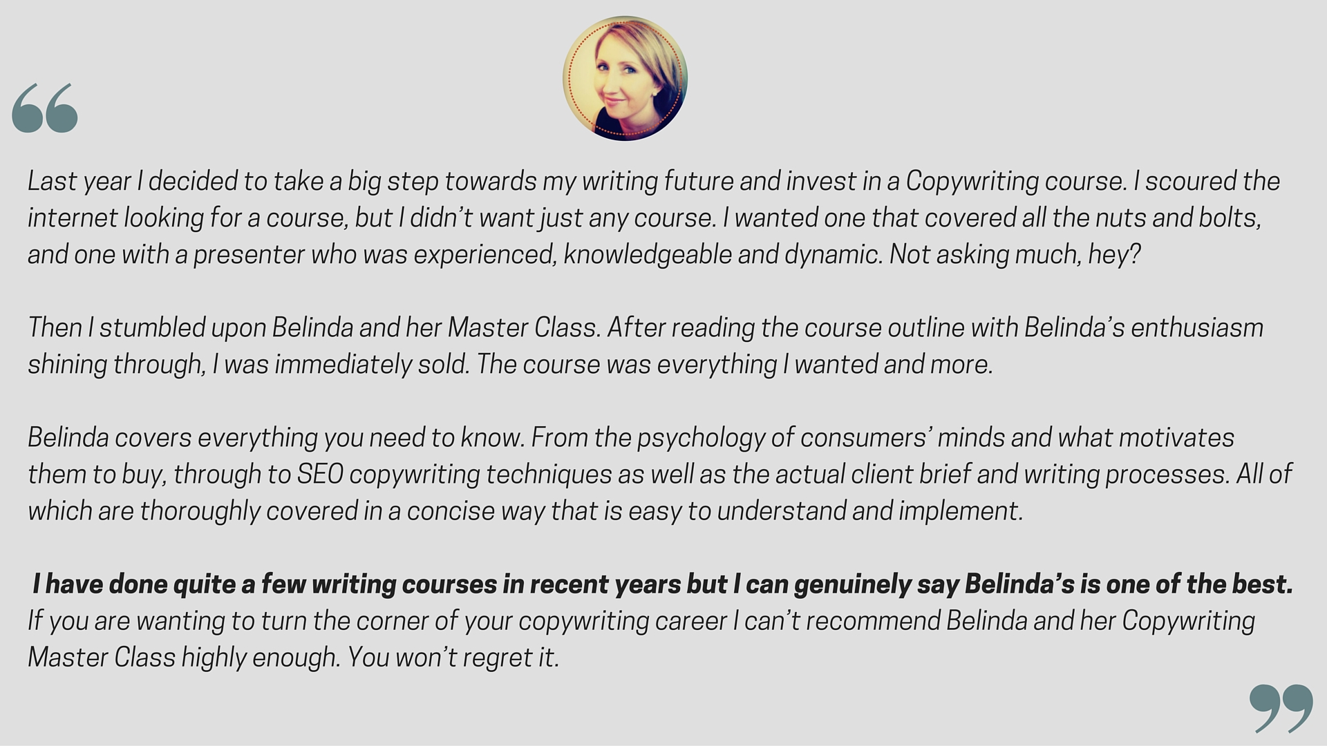 Copywriting Master Class Online Copywriting Course Is Open