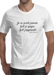 Mandela Je Ne Perds Jamais : mandela, perds, jamais, T-Shirt, Perds, Jamais, Gagne, Japprends, Nelson, Mandela, Homme