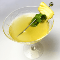 Grilled Pineapple, Basil, and Mezcal Cocktail