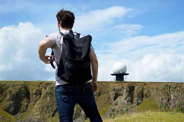 Harry Sack Backpack on top of Clee Hill