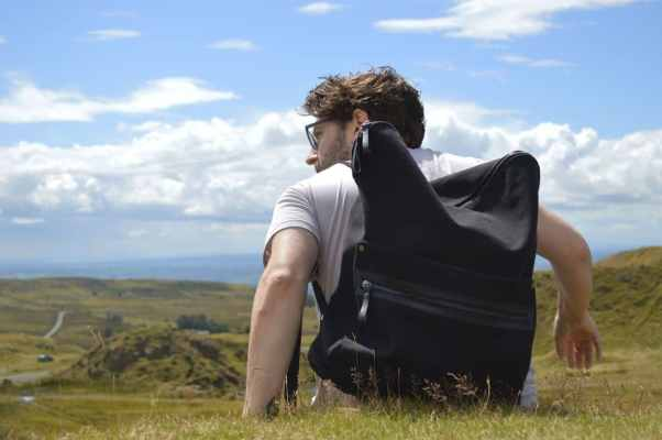 Cora + Spink Backpack in the great outdoors
