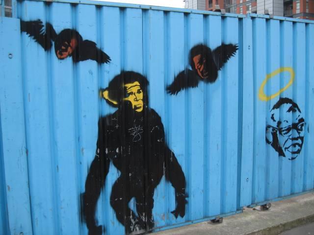 Potential Banksy work in Leeds