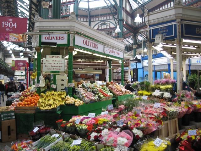 Inside Leeds City Market