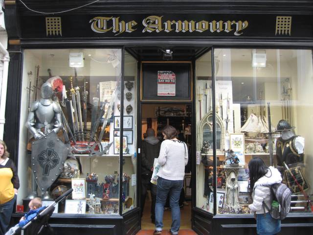 Armour shop in York