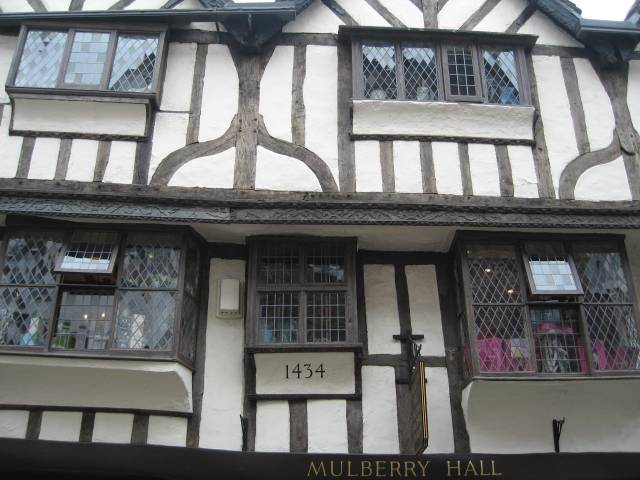 Timbered medieval house in York