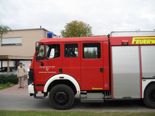 Harvest parade fire engine