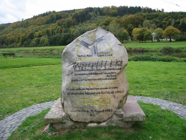 Weser monument at Lippoldsberg