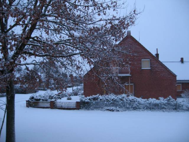 Snow covered house