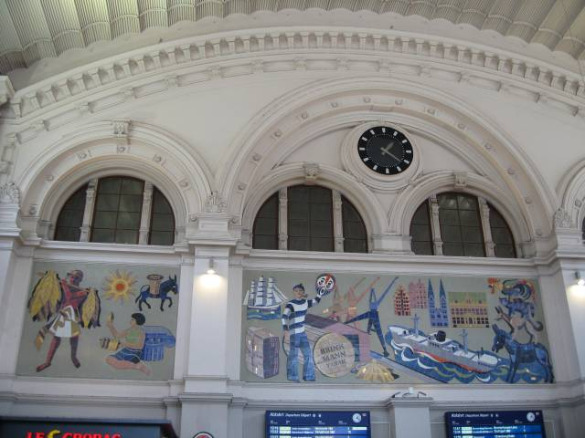 Bremen central station Brinkmann mural