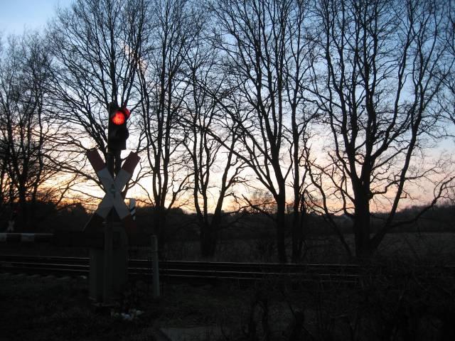 Teufelsmoor railway crossing