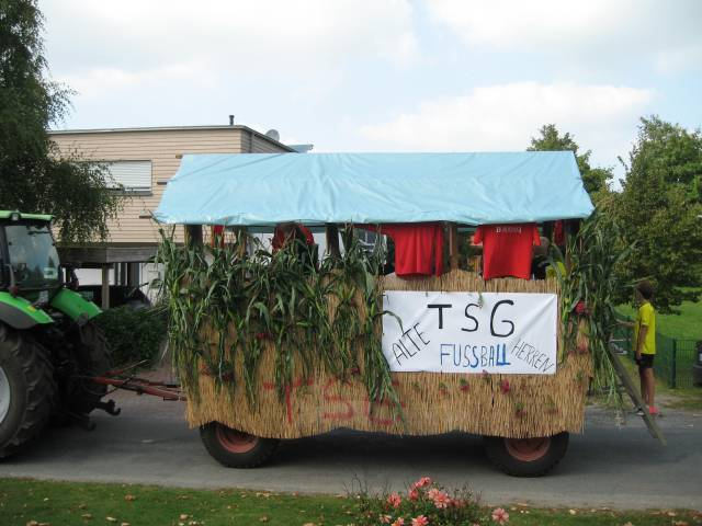 Harvest parade: float